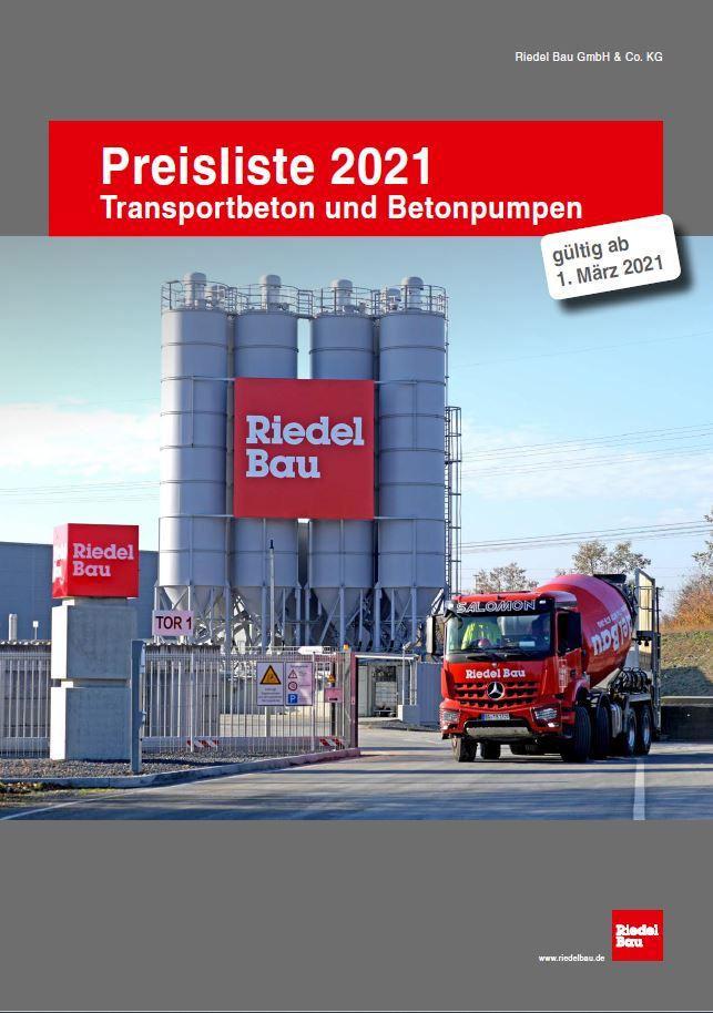 Betonpreisliste 2021